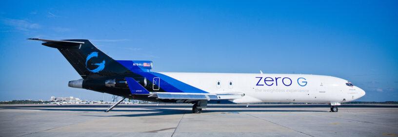 Zero G airplane sitting on the ground